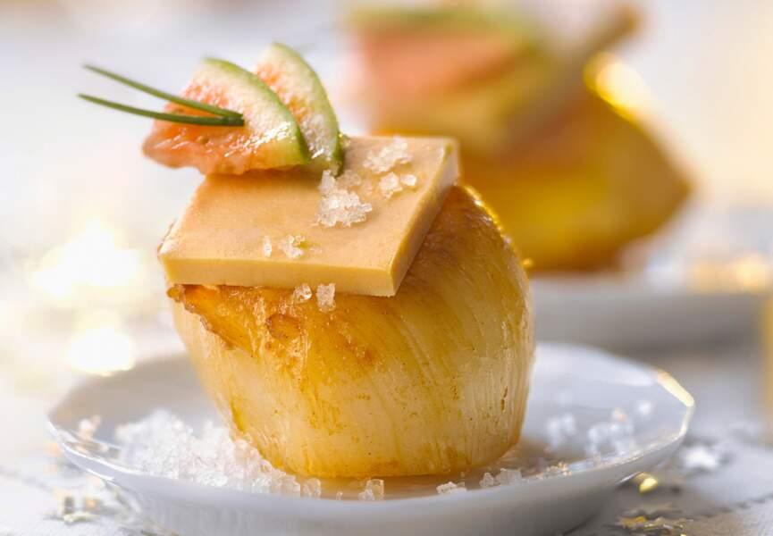 Coquilles Saint-Jacques au foie gras