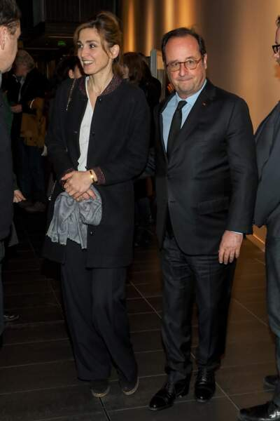 """Julie Gayet et François Hollande, un couple amoureux à la projection du documentaire """"The Ride"""""""