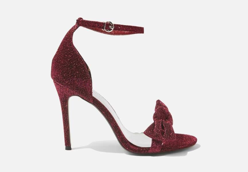 Chaussures de soirée : les sandales à noeud