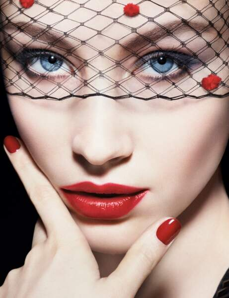 Une bouche rouge glamour