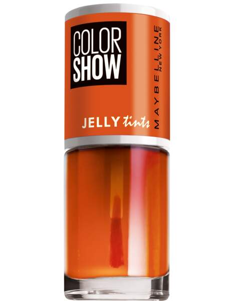 Vernis Color show, Jelly tints, 457 Edgy Tangy, Maybelline New York, 3,90 €