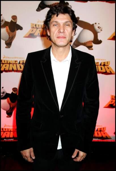 """Marc Lavoine à l'avant-première du film """"Kung Fu Panda"""" à Paris le 8 juin 2008."""