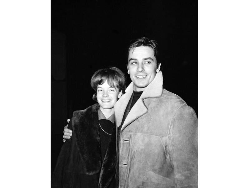 Le couple en 1961, Alain Delon a 26 ans