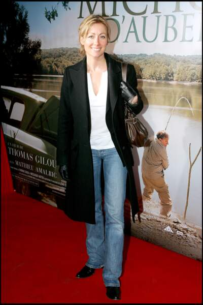 """Anne-Sophie Lapix à la première de """"Michou d'Auber"""" à Paris en 2007."""