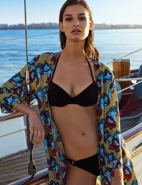 Robe de plage façon kimono