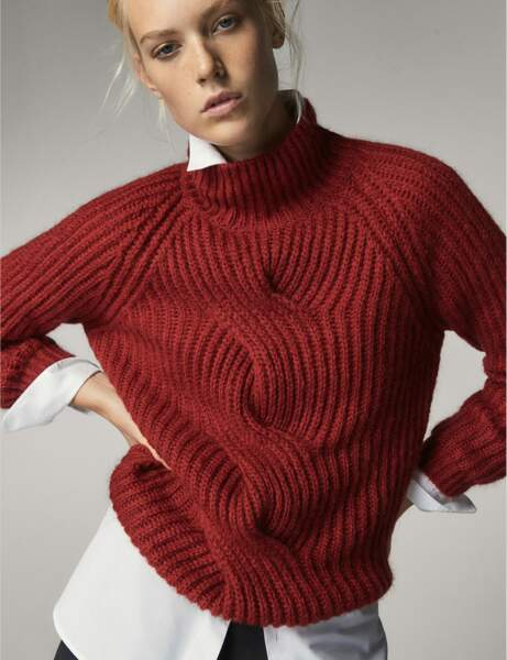 Col montant : le pull chic
