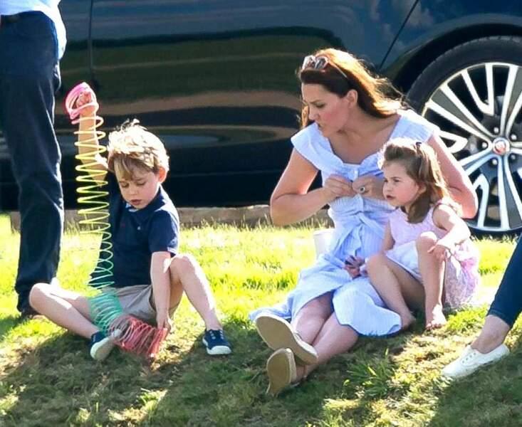 George, Charlotte et Kate Middleton