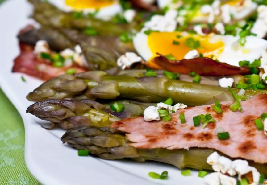 Salade tiède d'asperges