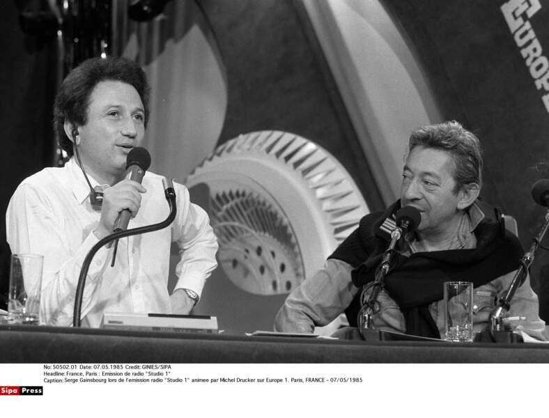 Serge Gainsbourg et Michel Drucker