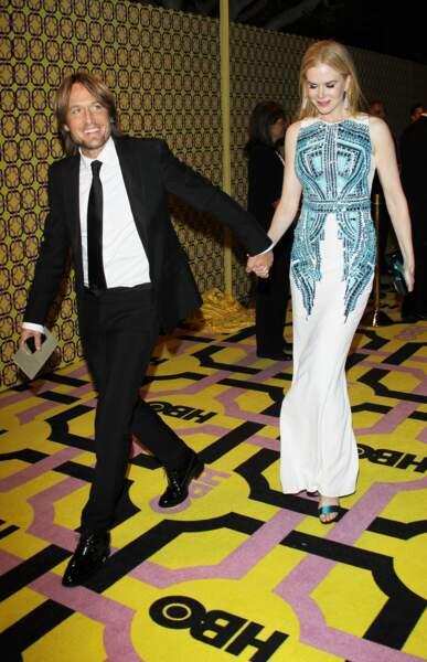 Nicole Kidman et Keith Urban à la réception HBO après les Emmy Awards le 23 septembre 2012.