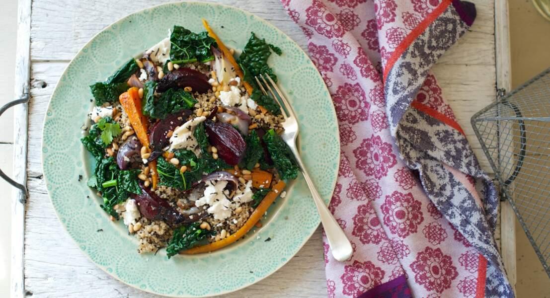 Salade de chou frisé, quinoa et betteraves : la recette et ses atouts nutritionnels