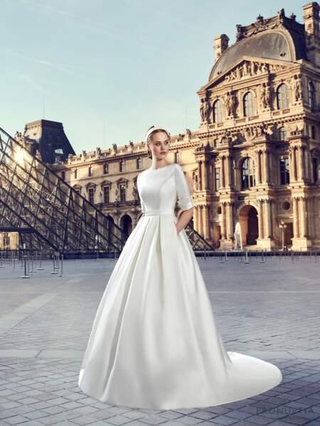 Mariage en hiver : Robe de mariée Vaugirard par Pronuptia