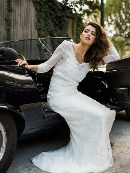 Mariage en hiver : Robe de mariée Rampling par Sophie Sarfati