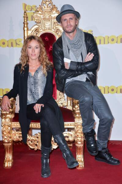 """Philippe Lacheau et Elodie Fontan à l'avant-première du film """"Les Minions"""" le 23 juin 2015."""