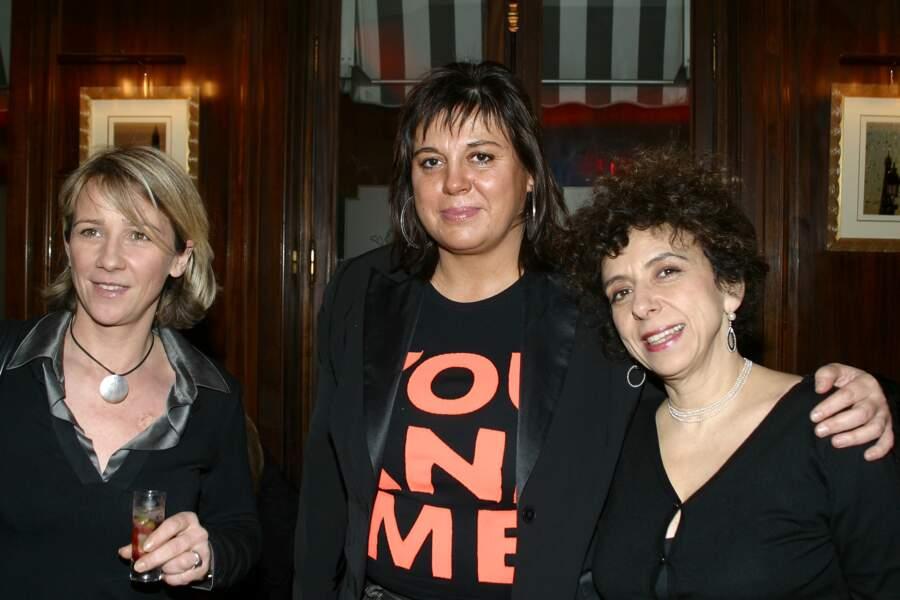 Michèle Bernier, Ariane Massenet et Isabelle de Botton au Crillon en mars 2005.