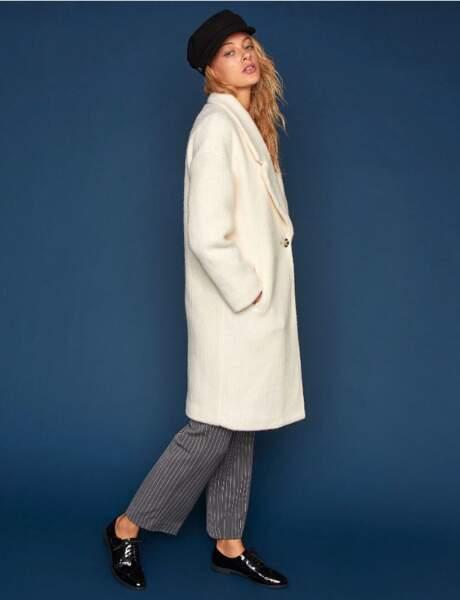Manteau blanc : 15 pièces coup de coeur pour un hiver chic