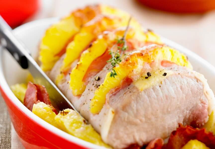 Rôti de porc déguisé à l'ananas