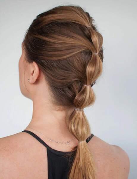Une ponytail à plusieurs étages