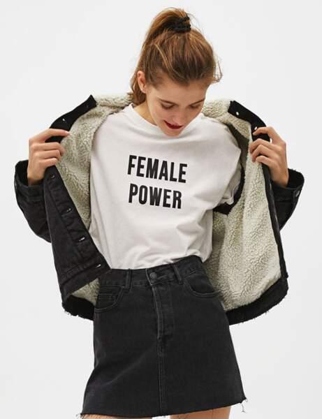 Top et pull à message : féministe