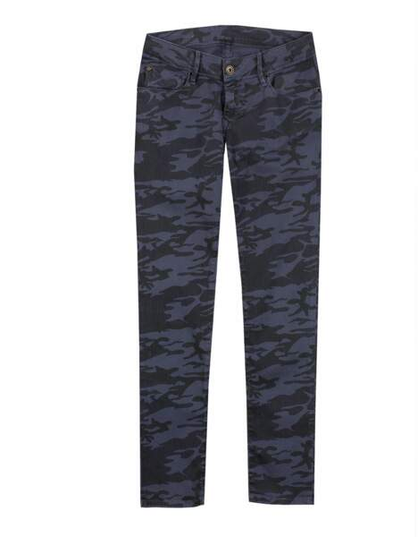 Le jean imprimé camouflage