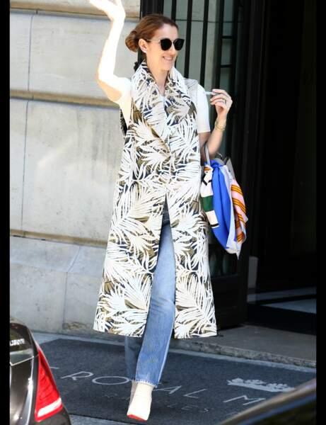 Céline Dion et son jean droit