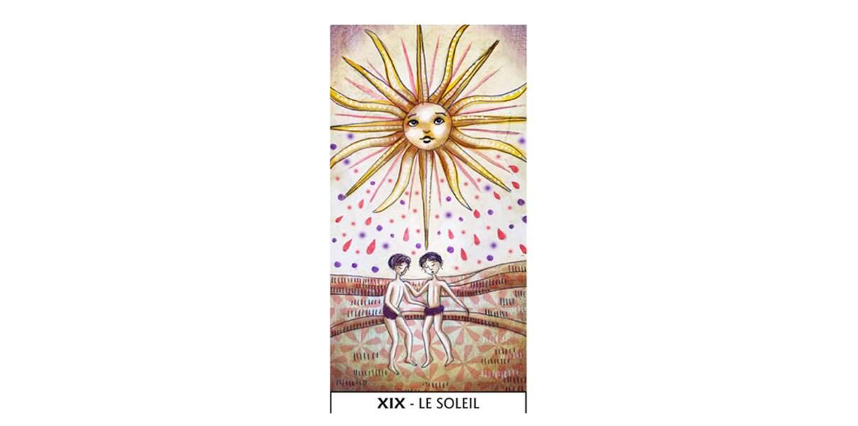 Lame 19 du Tarot des Mages : Le Soleil