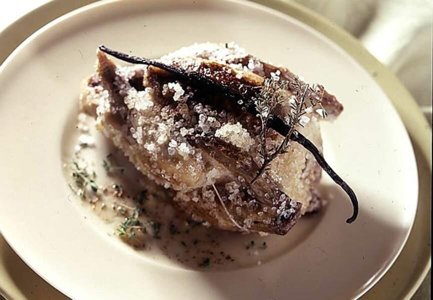 Pigeon en croûte de sel