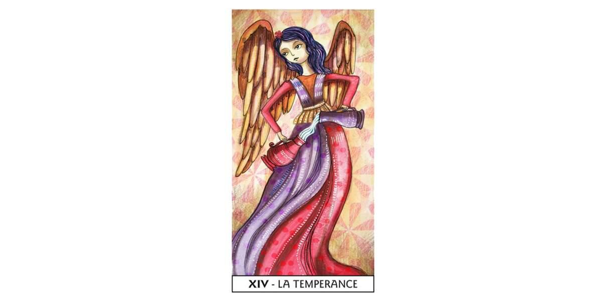 Lame 14 du Tarot des Mages : La Tempérance