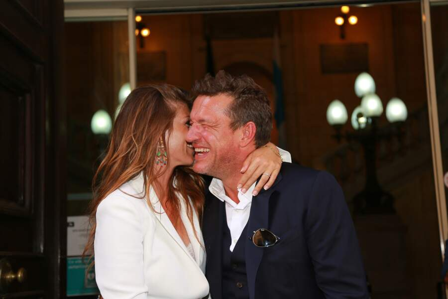 Benjamin Castaldi et son épouse Aurore Aleman : 2016