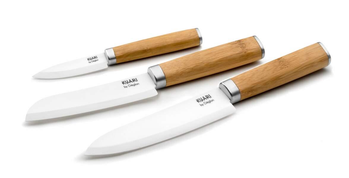 Couteau en céramique avec manche en bois