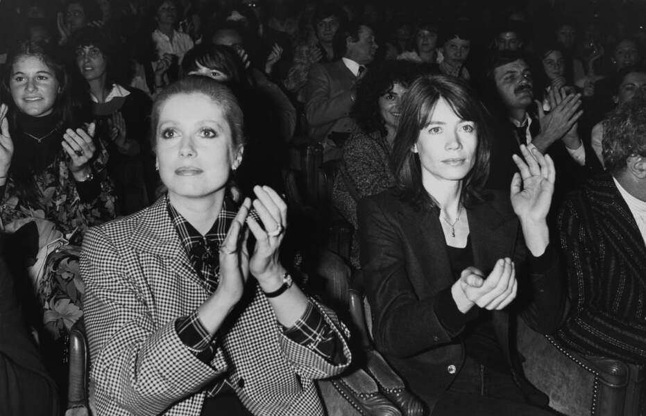 Françoise Hardy et Catherine Deneuve au concert de France Gall en 1978.