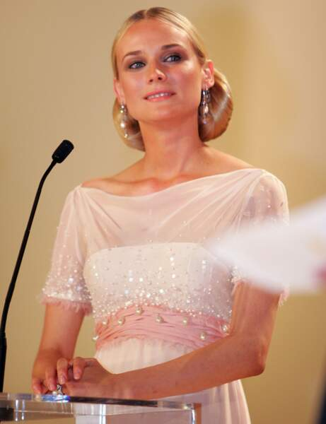 Diane Kruger, même sans prompteur, elle assure !