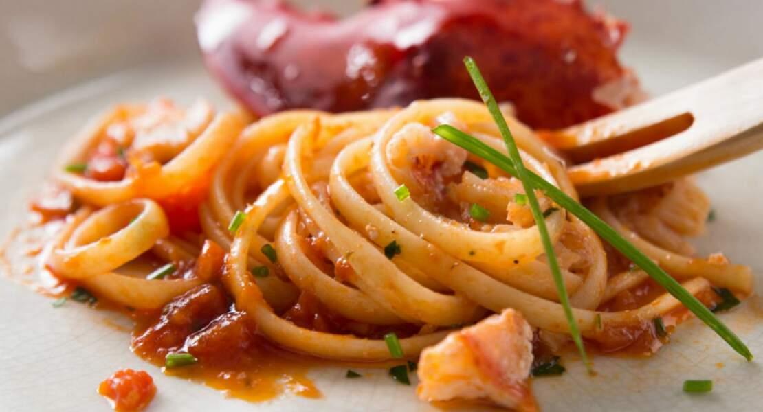 Linguine tomate et homard