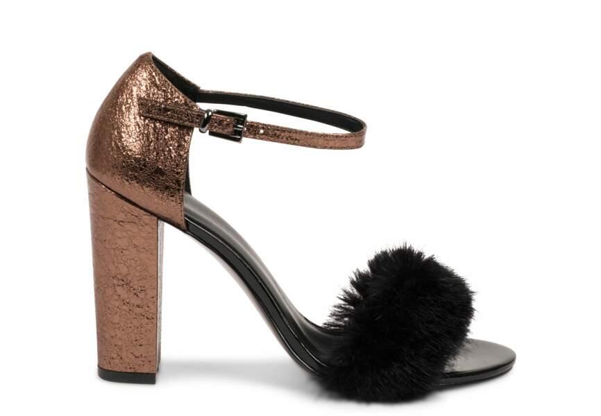 Chaussures de soirée : les sandales à fourrure