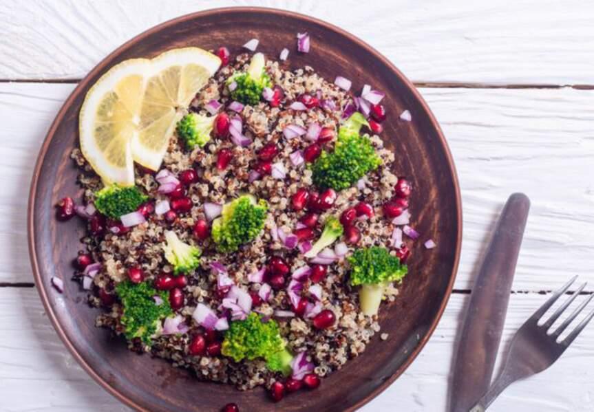 Taboulé quinoa, amandes et tomates séchées