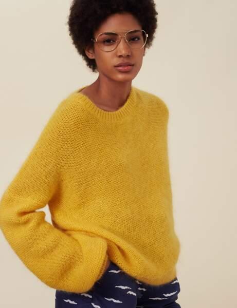 Nouveauté printemps : le pull jaune
