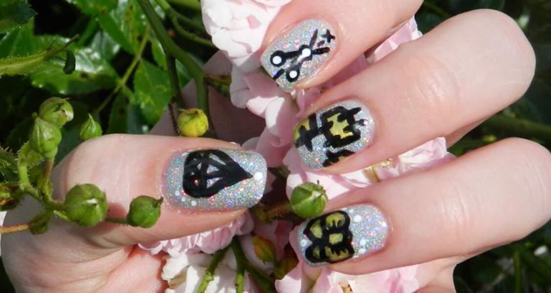 9e place pour le nail art argenté