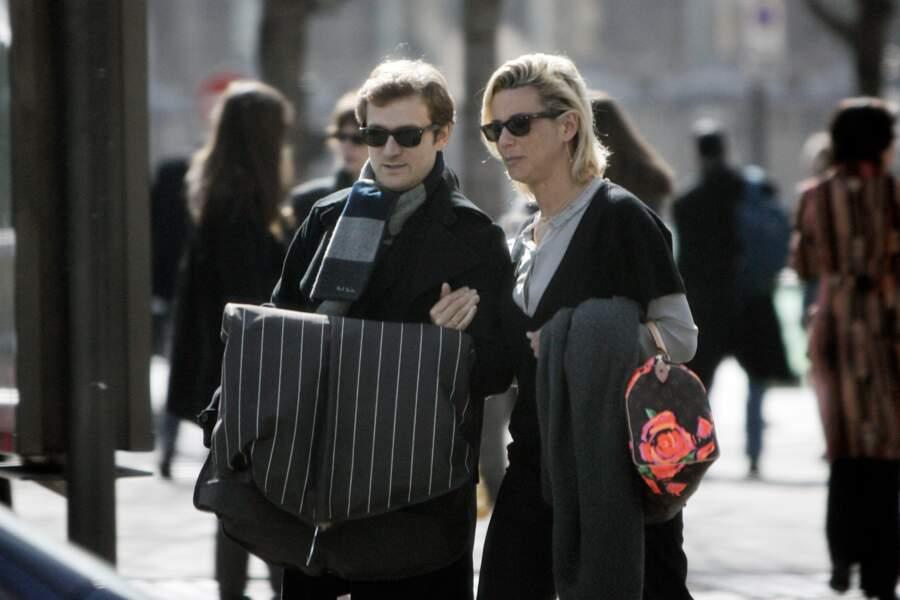Laurence Ferrari et son mari Renaud Capuçon en pleine balade parisienne (2009)