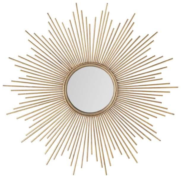 Miroir en métal doré