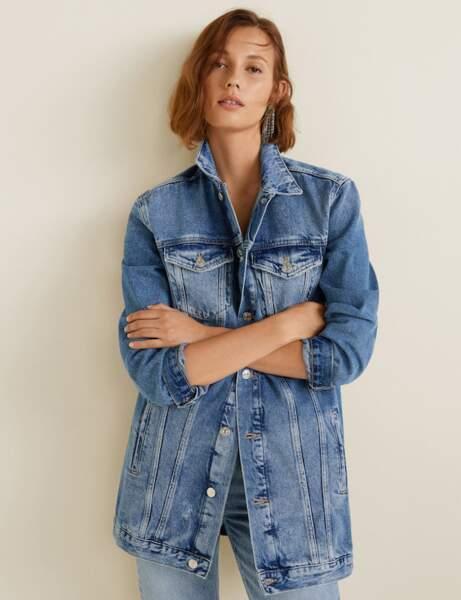 La veste en jean oversize