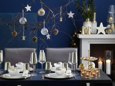 Deco de table de Noël : nos inspirations or, bleu, nature et chic