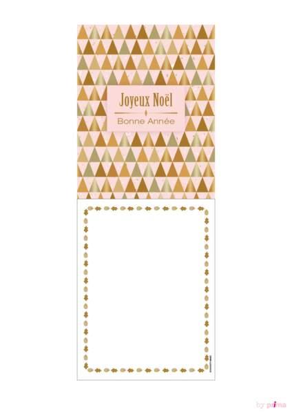 Carte de voeux rose pastel joyeux noël