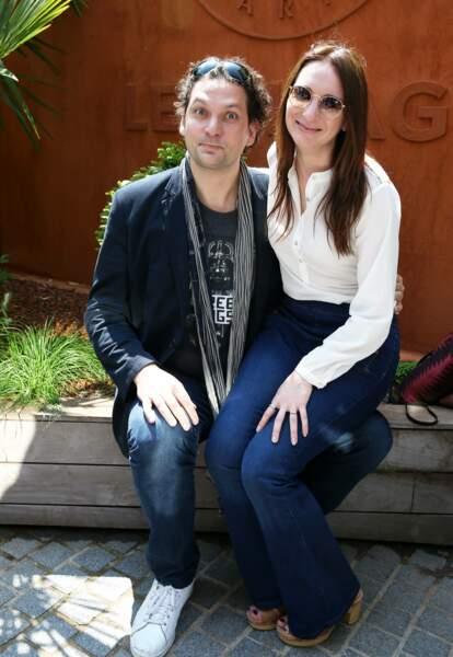 Eric Antoine et sa femme Calista Sinclair au village des Internationaux de Tennis de Roland Garros le 27 mai 2016