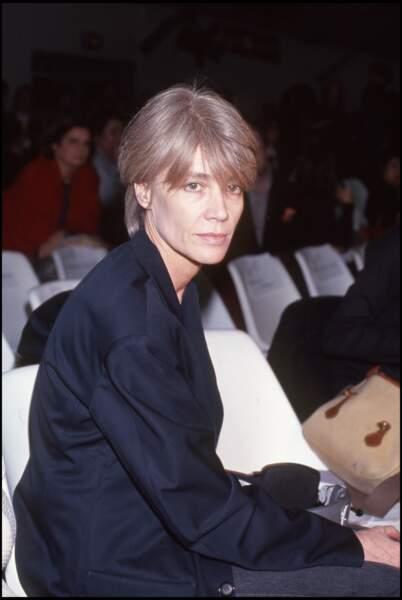 Françoise Hardy au défilé prêt-à-porter d'Issey Miyaké en 1993.