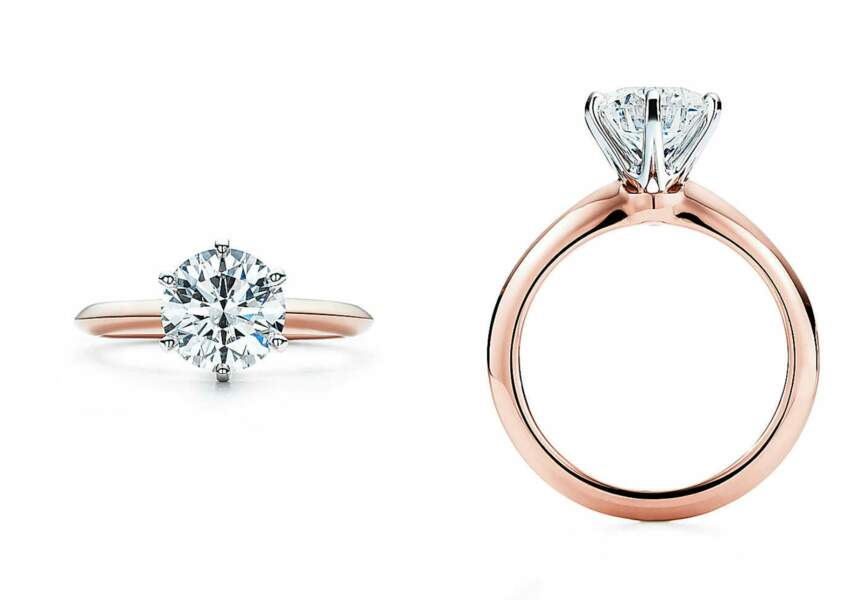 Le Tiffany® Setting en or rose 18 carats