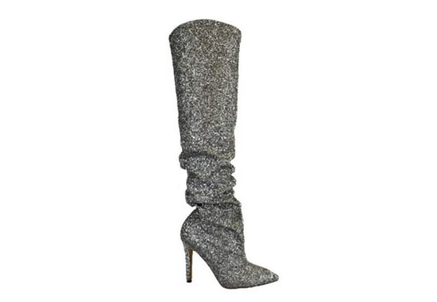 Chaussures de soirée : les bottes argentées