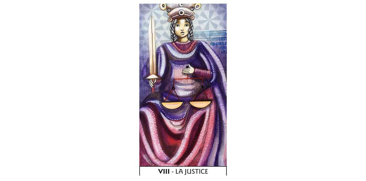 Lame 8 du Tarot des Mages : La Justice