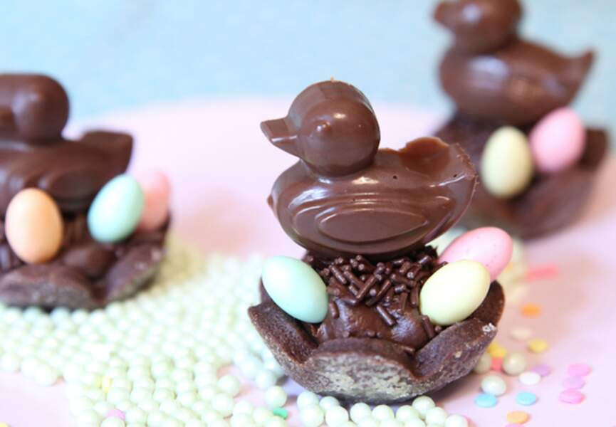 Un nid de fritures en chocolat