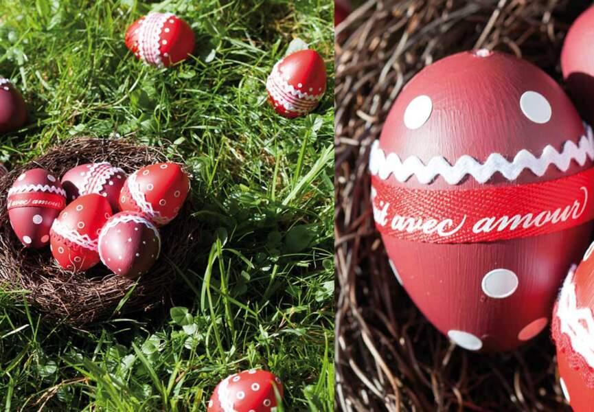 Des petits oeufs rouges pour Pâques