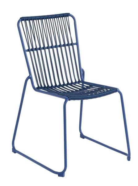 chaise bleu nuit